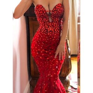 Jovani 944 Gown - Red